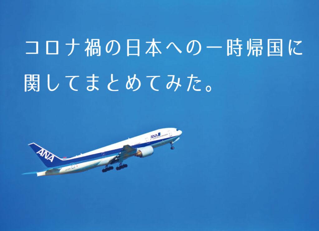 コロナ禍の日本への一時帰国に関してまとめてみた。